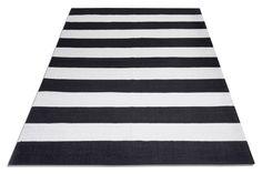 INARI-matto 140 x 200 cm (Mustavalkoinen)