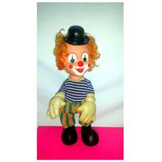 Vintage Rubber Face Clown,Clown Squeak Toy,Creepy Cute,Circus Clown,Rubber Clown Doll,Kitsch,Clown,Squeak Toy,Circus Clown,Hong Kong by JunkYardBlonde on Etsy
