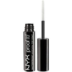 This beauty product is sheer genius! Instead of wearing waterproof mascara (which can harm your eyelashes), apply this waterproof top coat mascara from NYX Cosmetics on top of your standard mascara. It makes your lashes waterproof, but doesn't make your mascara hard to remove.