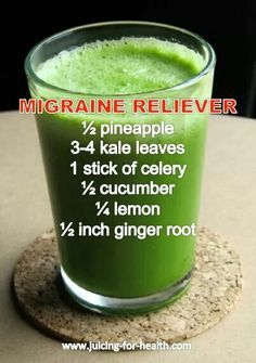 Migraine relieving juice blend- Food Is Medicine!   www.onedoterracommunity.com   https://www.facebook.com/#!/OneDoterraCommunity