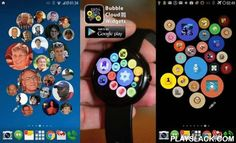 Bubble Widgets + Wear Launcher  Android App - playslack.com ,  Bubbles grow with use: more frequently used items stand out from the crowd 2-in-1 app! get Bubble Clouds both►on your phone+tablet → HOMESCREEN WIDGETS►on your → ANDROID WEAR SMARTWATCHuse it on either, or on both! ★★★★★ ANDROID WEAR ★★★★★ 2 MODES►App Drawer (similar to other android wear mini launchers)►Interactive watch-face (the launcher becomes your watch face!) FEATURE HIGHLIGHTS►Fun+practical: you can fit many more icons →…