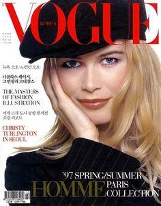 Claudia Schiffer for Vogue Korea, October 1996