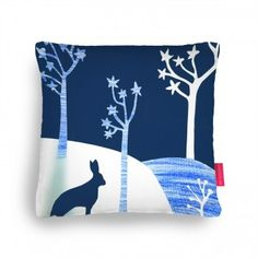 blue winter Cushion, Ohh Deer pillow fight competition