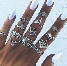Mix de anéis boho ✌