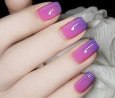 1 Pc 6ml Thermal Color Changing Nail Polish Peel Off Varnish Purple to Pink # 23815