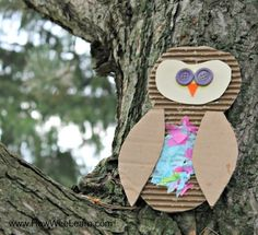 I love owl crafts! This is such an awesome craft for kids - full of process art, textures, and a beautiful end product too!