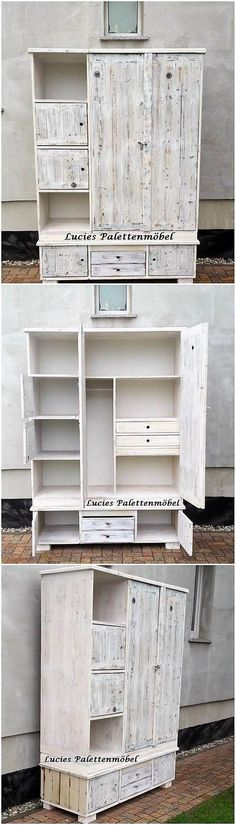 Over this image, we come up with the extraordinary cabinet project of the wood pallet that is being flavored put in the blend coordination of the drawers and cabinets as well. It is overall put in the durable and sturdy form of the variations that gives out the impression of like the cupboard.