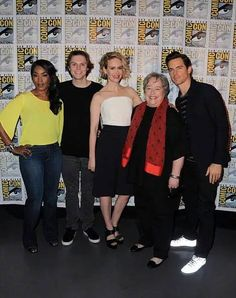 Some of the AHS Hotel cast at Comic Con 2015
