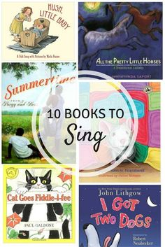10 picture books to sing: Great list for music teachers and for parents! Kindergarten Music, Preschool Music, Music Activities, Teaching Music, Learning Piano, Movement Activities, Sequencing Activities, Preschool Books, Music Games