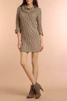 HKR Collections Sierra Sweater dress & ankle boots