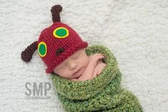 Hungry Caterpillar Cocoon Set Hungry Caterpillar Cocoon Set by OliveBerkleeDesigns on Etsy Caterpillar Book, Caterpillar Costume, Very Hungry Caterpillar, Literary Costumes, Christian Baby Shower, Newborn Photography Studio, Crochet Gifts, Halloween Costumes For Kids, Book Worms