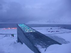 The Global Seed Vault in Norway - Longyearbyen/Spitsbergen/Svalbard, Norway. The Seed Vault grow and save Seeds to distribute where there is a Disaster, such as a Earthquake or Flood and then the Area replenishes. Bill Gates, Svalbard Norway, Longyearbyen, Alesund, Seed Bank, Destinations, Arctic Circle, Vaulting, Science And Nature