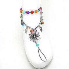Flower Plastic Bead Chain Anklet - Color Silver / AZANPI014-SMU Arras Creations http://www.amazon.com/dp/B00R8KECJK/ref=cm_sw_r_pi_dp_0RkCvb0RMDH5D