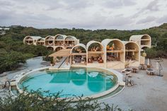 Known for its sandy beaches, green setting and surfing spots, Mexico's Puerto Escondido now has one more card up its leafy sleeve: a new hotel with strong sustainability credentials, designed by acclaimed Mexican architect Alberto Kalach. Casona Sforza, conceived by the entrepreneur Ezequiel Ayarza Sforza, has just opened its doors and combines an eco-approach with striking architecture and state-of-the-art hospitality and interiors. Unique Architecture, Sustainable Architecture, Australian Architecture, Residential Architecture, Puerto Escondido Oaxaca, Brick Arch, Interior Design Magazine, A Boutique, Boutique Hotels