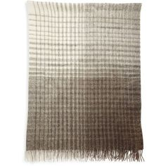 Brunello Cucinelli Checked Alpaca & Wool Blend Blanket ($1,025) ❤ liked on Polyvore featuring home, bed & bath, bedding, blankets, beige, gifts - decorative home, checkered blanket, cream colored bedding, cream bedding and baby alpaca blanket