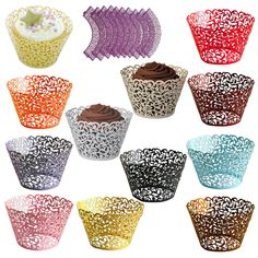It will make your cupcake look more beautiful and charming. It will be a fantastic addition to cupcakes for your wedding or party. Catchy diameter: about 8cm. Color:Golden/Pink/sky blue/Ice White/Light purple/Red wine/Black/Ivory/Purple/Red/light yellow/Orange/coffee. | eBay!
