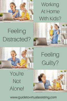 If you are working at home with kids and feeling distracted, guilty and all the feels. Virtual Assistant, Assistant Jobs, Blog Writing Tips, Find A Song, Silly Questions, Online Entrepreneur, Blogging For Beginners, Kids House, Make Money From Home