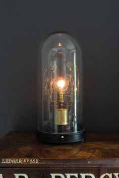 Lampsmith lens dome bell jar vintage lamp.jpg Available to purchase from www.thelampsmith.co.uk  ( Machine Age , Glow , Refracting , Lamps , Lights )