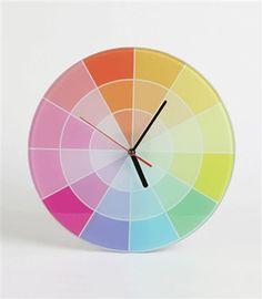 Colour Chart Rainbow Clock