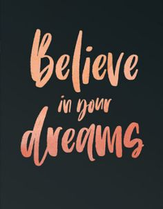 Believe In Your Dreams Motivational Quote Print for the home, or office decor. | #ad #wallart #quotes