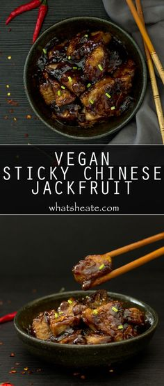 Vegan Sticky Chinese Jackfruit #vegan #glutenfree #recipe