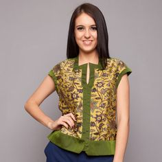 Green Silk ATBM Batik Blouse