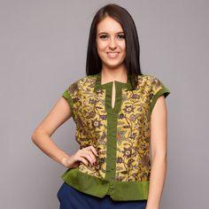Green Silk ATBM Batik Blouse