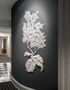 French Hydrangea | From a unique collection of antique and modern wall-mounted sculptures at https://www.1stdibs.com/furniture/wall-decorations/wall-mounted-sculptures/