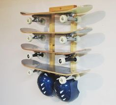 Exceptionnel Four (4) Skateboard Wall Rack | Level #skateboardrack #skateboardstorage  #storeyourboard Wall