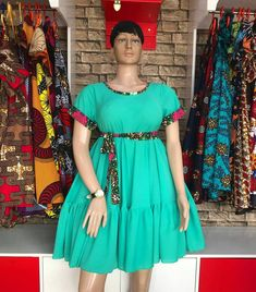 Ankara print short dress for women's / African print short sex dress for women's kitenge short dress African Dresses For Kids, African Wear Dresses, Latest African Fashion Dresses, African Print Fashion, African Attire, African Outfits, Africa Fashion, Elegant Dresses Classy, Ankara Gown Styles