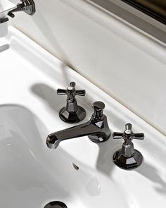 Matching Art Deco taps are also available with finishes in chrome, natural brass, burnished, nickel or polished brass.