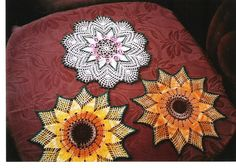 slnečnice My Works, Doilies, Brooch, Jewelry, Jewellery Making, Jewelery, Brooches, Jewlery, Jewels