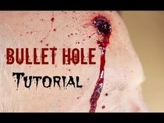 Bullet Hole Halloween Tutorial! | GettingPretty (+playlist)