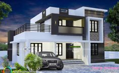 Luxury Single Storey Villas By TC – Amazing Architecture Magazine House Balcony Design, 4 Bedroom House Designs, Two Story House Design, 2 Storey House Design, Best Modern House Design, Modern Exterior House Designs, Kerala House Design, Bungalow House Design, Flat Roof House