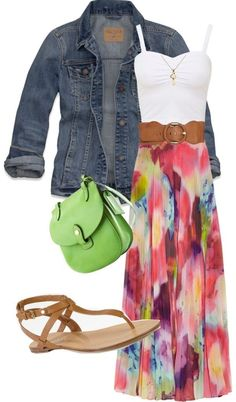 Elegant summer fashion for women. LOVE this ... Dress and jacket together are adorable!!