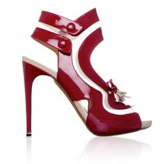 Nicholas Kirkwood Patent Leather and Mesh Sandals $1,055