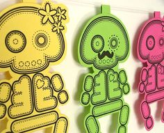Printable Garland Sugar Skull Nursery by TheDollCityRocker on Etsy