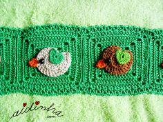 Foto da união dos quadrados do toalhão verde