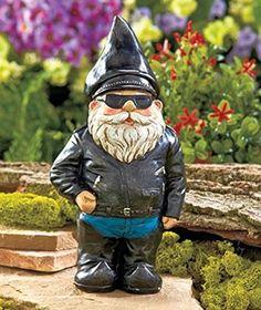 Biker Garden Statue Gnome Harley Davidson Novelty Sprites Fairy Yard Art Gift #UniquesShop