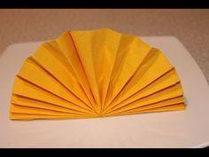 How to Fold Napkin - The Standing Fan Napkin Fold