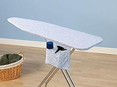 #homekitchen Our blue and white cotton cover can easily fit your existing #ironing #board with its bungee cord binding and tailored nose. The hook-and-loop closur...