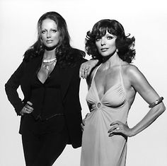 Jackie and Joan Collins - 70's glam