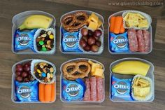 Snacky lunch DIY lunchables...without the Oreos. Sandwich container lunchable