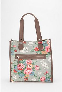 Cooperative Floral Printed Tote Bag on clearance only $14.99 / Want; reviews say this is perfect size for carrying a netbook