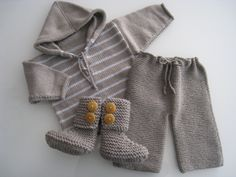 chunky pants and boots with striped hoodie www.weebits.co.nz for eco merino babywear