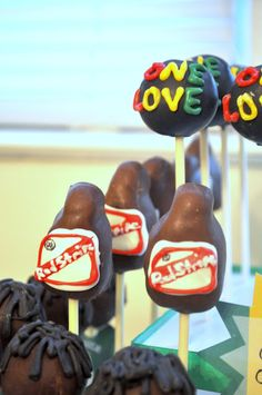Jamaican Island Rasta Party from Bottle Pop Party Co - Red Stripe Beer Bottle Cake Pops #cakepops from @Jamie Golden