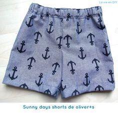 กางเกงเด็ก Tutorial costura fácil: shorts para niño (patrón gratuito de Oliver+S) Sewing Kids Clothes, Sewing For Kids, Baby Sewing, Diy Clothes, Short Bebe, Short Niña, Sewing Shorts, Diy Shorts, Toddler Fashion