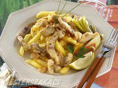 Afrikai harcsa brassói módra  recept Hungarian Recipes, Hungarian Food, Fish Recipes, Pasta Salad, Yummy Food, Delicious Recipes, Chicken, Ethnic Recipes, Fishing