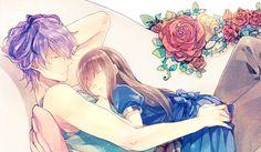 cute anime girl sleeping in her boyfriend lap romantic relationships love tumblr cute couples