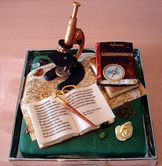 Beautiful cake for the inquisitive at heart!